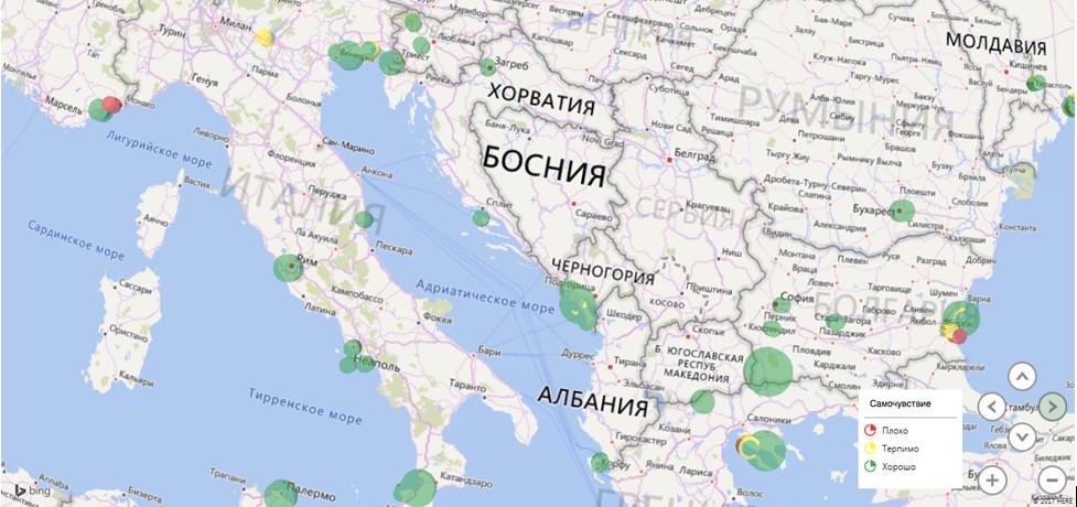 карта Болгария Хорватия